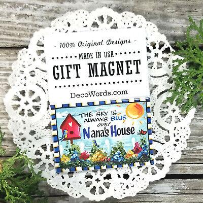 Nana Gift Fridge MAGNET USA New DecoWords All Family Grandparent names Cute