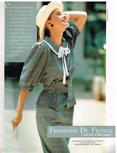 Françoise De France Prêt À Porter publicité advertising 1990 pret à porter vetements francoise de