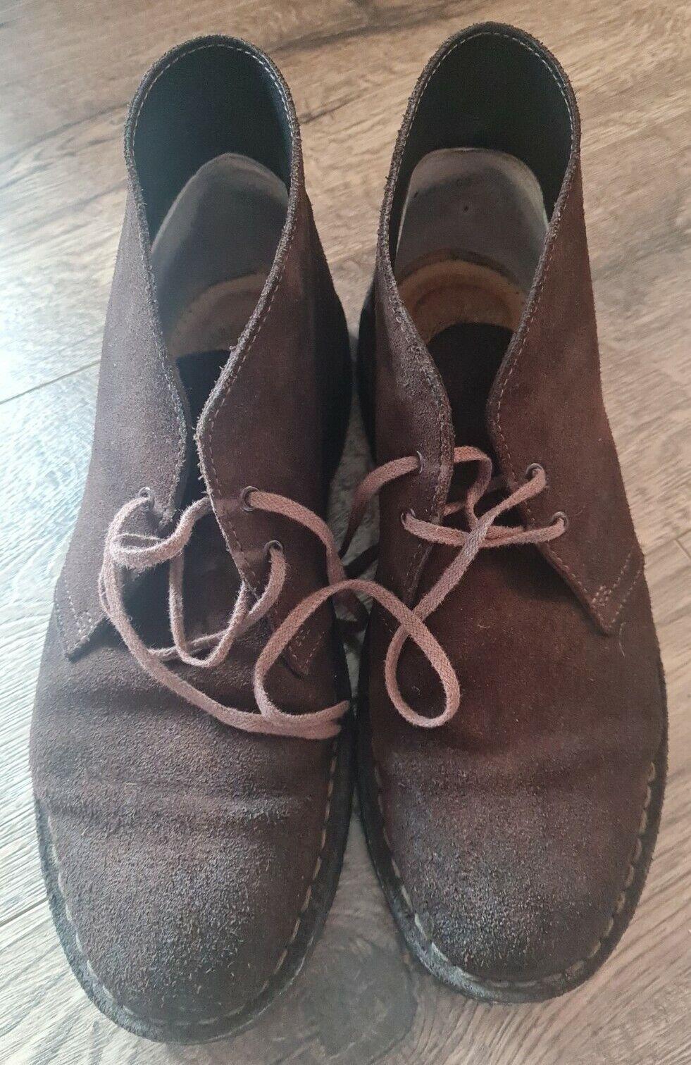 Mens Clarks Originals Desert Boots Brown Suede UK 7.5