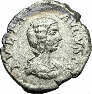 JULIA-DOMNA-207AD-Rare-Rome-Silver-Ancient-Roman-Coin-Fortuna-Child-i75836