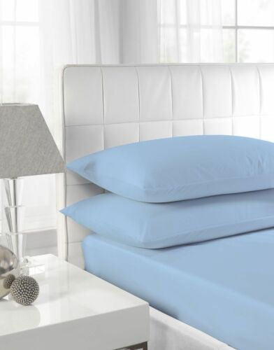 """100/% EGYPTIAN COTTON 180 THREAD COUNT FITTED 9""""//23CM DEEP FITTED 16""""//40CM SHEETS"""