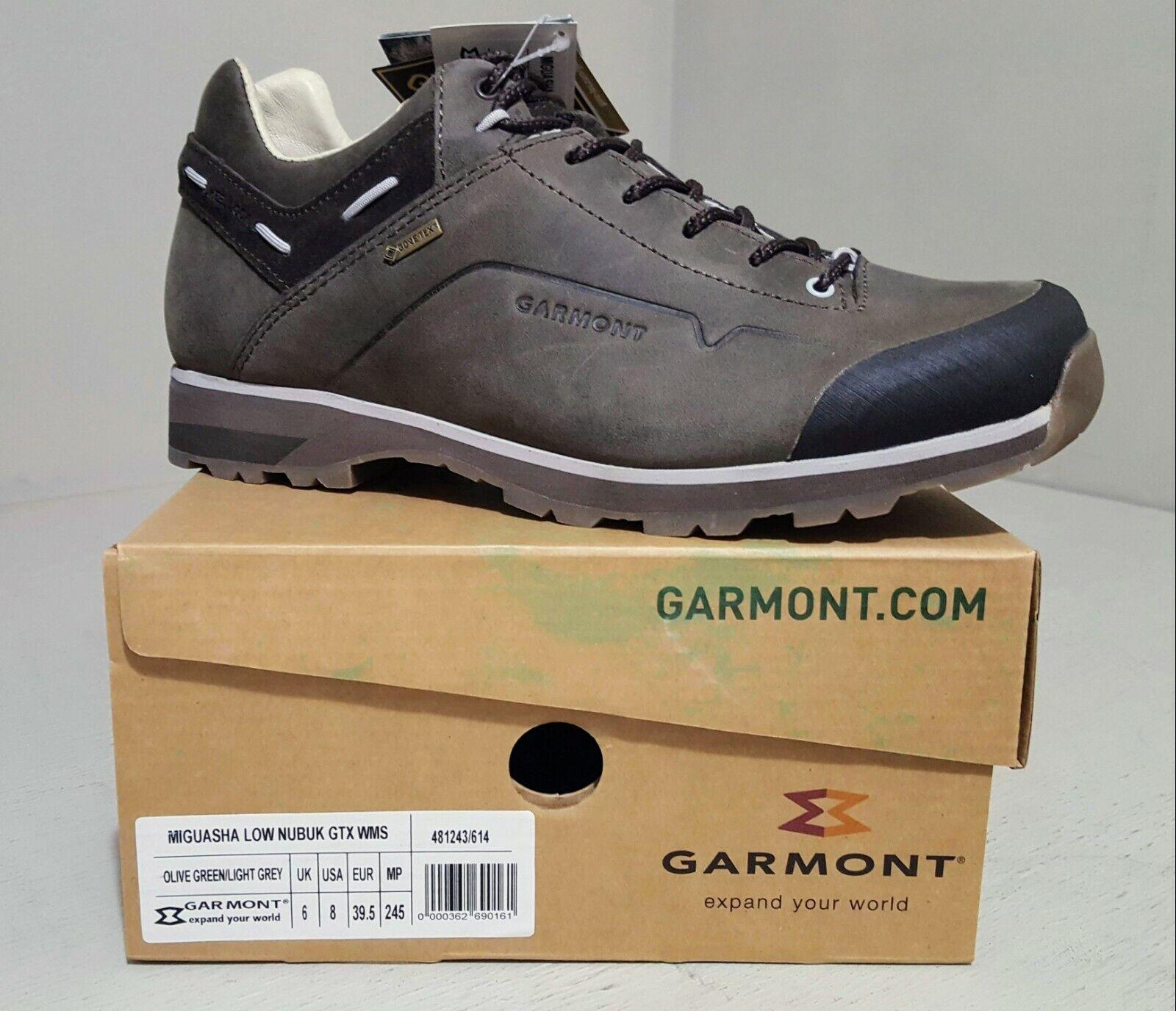 Garmont Miguasha Low Nubuk GTX femmes Hiking chaussures chaussures chaussures vert gris EU 39.5 Taille 8 NEW 4b14fe
