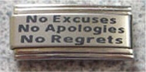 Italian Charms Superlink L46 No Excuses  Apologies  Regrets
