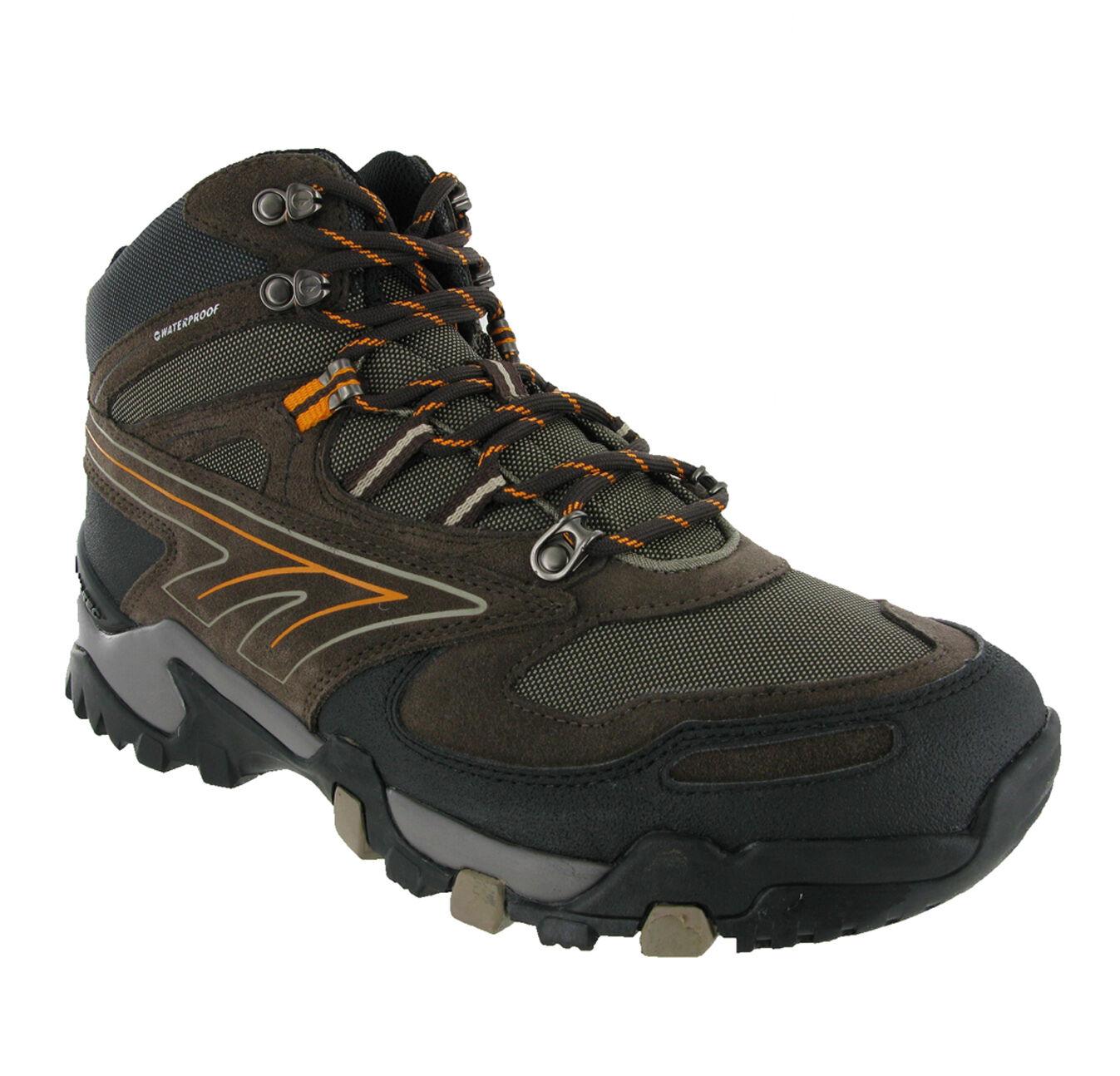Hi-Tec Dakota Dark Brown Leather Waterproof Trekking Mens Boots