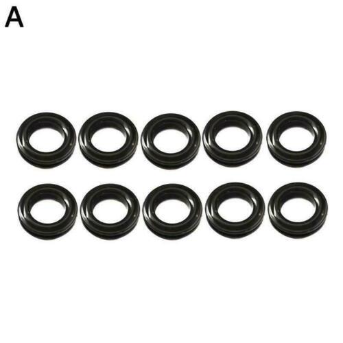10 Plastic Self Sealing Snap Eyelets Grommet Tarpaulin Groundsheet Black F5C8