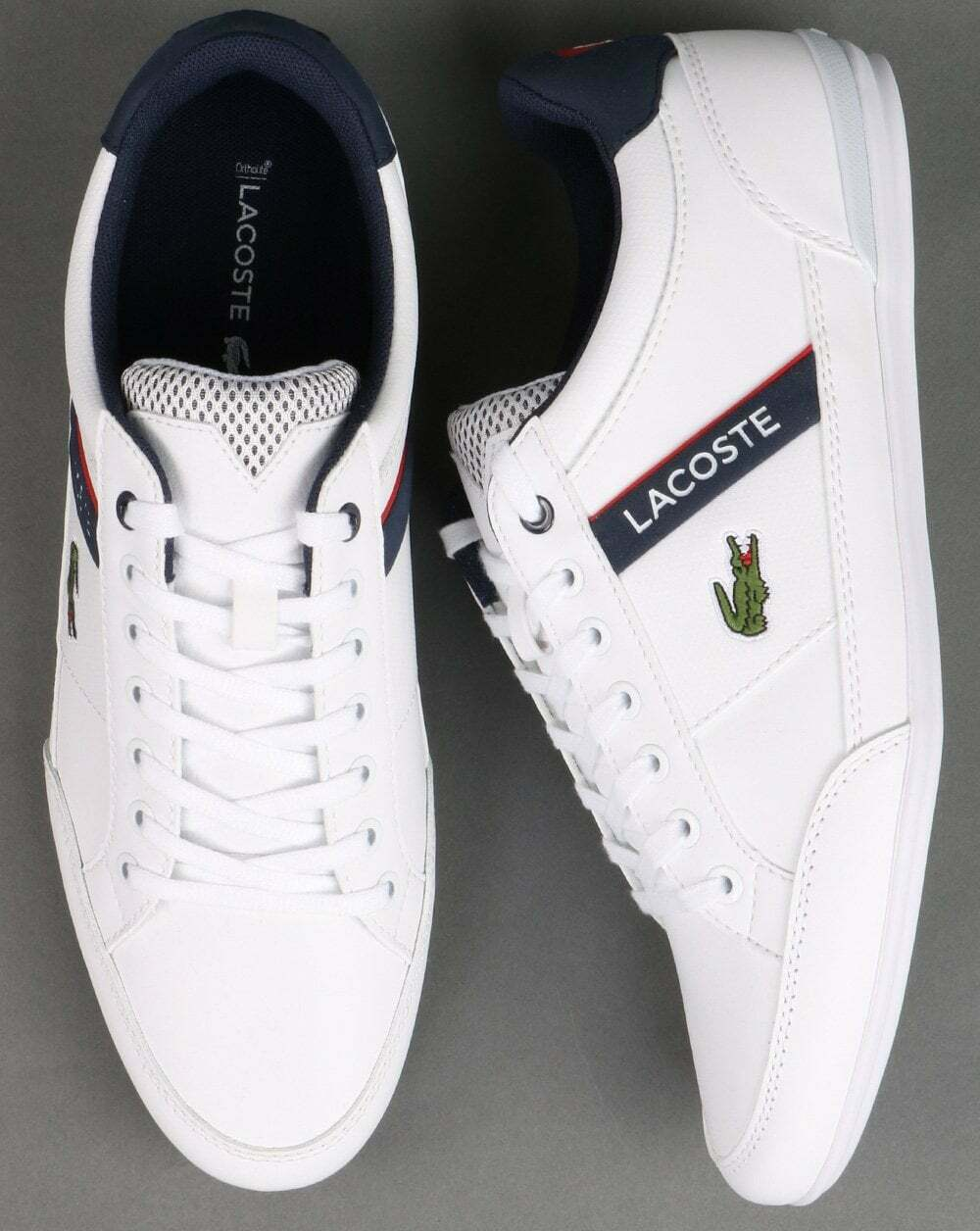 Lacoste Chaymon Trainer White/navy/red