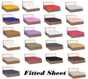 1 PC Fitted Sheet Deep Pocket 1000 TC Egyptian Cotton US Queen Size & Colors