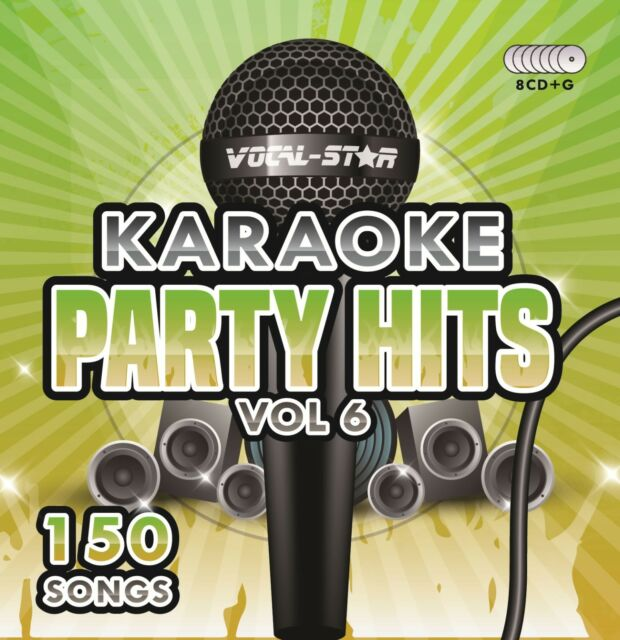 VOCAL-STAR PARTY HITS 6 KARAOKE CDG CD+G DISC SET 150 SONGS FOR KARAOKE MACHINE