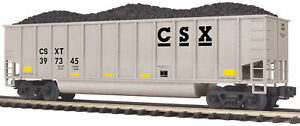 MTH-1-48-O-Scale-CSX-397345-Coalporter-Hopper-w-Coal-Load-Train-Car-20-97241X