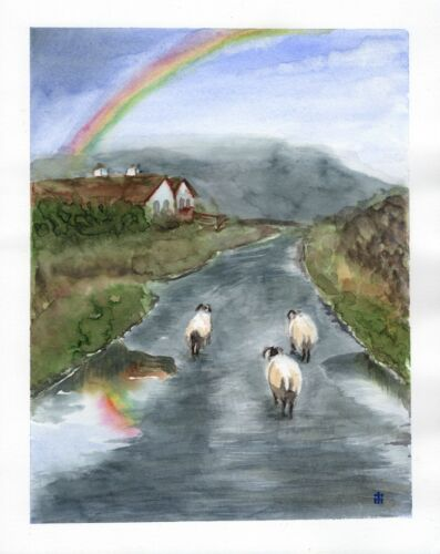 Watercolour Irish Landscape Painting Limited Edition Print from Original by ili