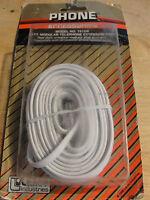 Lance White 25' Modular Telephone Extension Cord