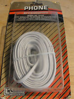 Lance White 25' Modular Telephone Extension Cord