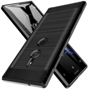 Housse-Sony-Xperia-XZ2-compact-Etui-Coque-protection-Ultra-Fine-Fibre-de-Carbone