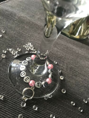 Party Engagement Hen Gorgeous Bride to Be Wine Glass Charm