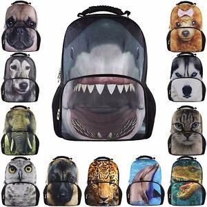 Women Xmas Backpack PU Leopard Travel Rucksack Shoulder School Fashion Print Bag