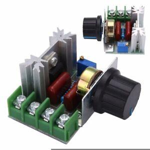 SCR 2000W Motor Interruptor Regulador De Voltaje Controlador de Velocidad Potenciómetro 50-220V