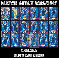 CHELSEA MATCH ATTAX 2016 2017 16/17 CHOOSE YOUR BASE CARDS:  #55-72