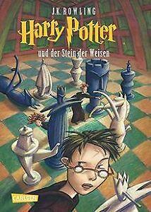 Harry-Potter-und-der-Stein-der-Weisen-Band-1-von-Rowli-Buch-Zustand-gut