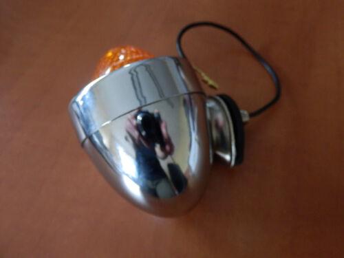 Chrome Clignotant brièvement avec boîtier métallique ø 58mm Bullet pike marque d/'homologation E w008