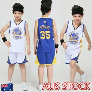 24e45817893 Kevin Durant  35 Kids Children s Youth Basketball Jersey Golden ...