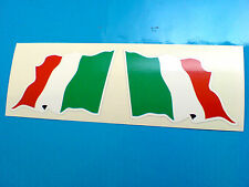 Italia Italiana Wavey Bandera Casco De Motocicleta Coche Stickers Calcomanías 2 Off 60mm