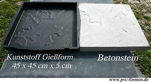 2 moules pour b ton litocer 45 x 45 cm en b ton dalles de patio ebay. Black Bedroom Furniture Sets. Home Design Ideas