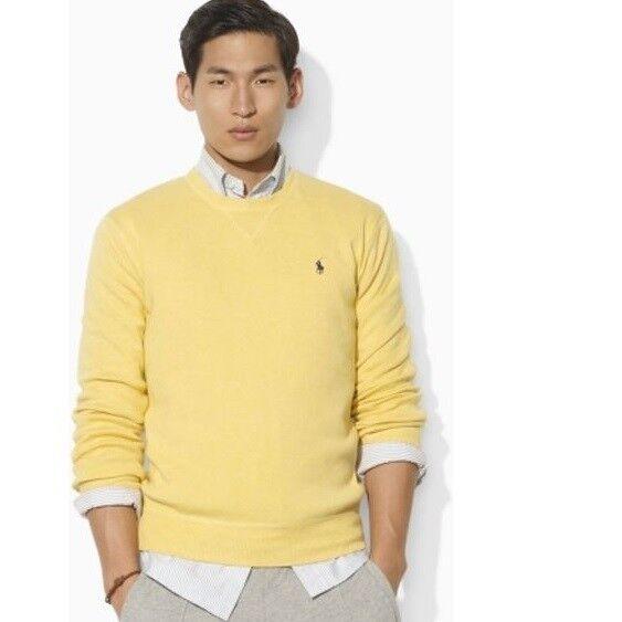 Polo Ralph 100 Xl Yellow Mens Cotton Crew Neck Lauren Sweater 7gf6by