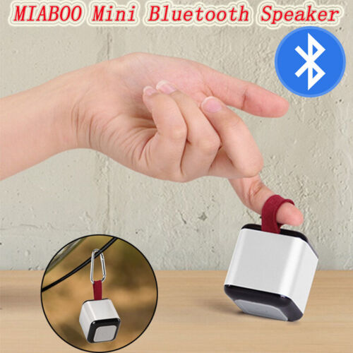 MIABOO Mini Portable Bluetooth Speaker With Carabiner Support 2 Interconnections