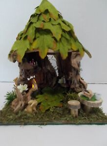 OOAK-Handcrafted-Fairy-Garden-Fairy-House-Display-Miniatures
