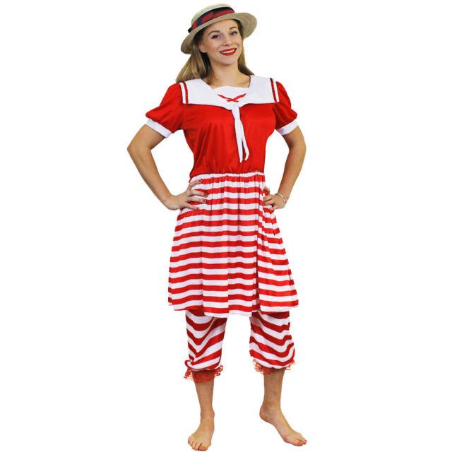 1920\'S BATHER COSTUME VICTORIAN BATHING SUIT FANCY DRESS COSTUME SWIMSUIT  1920S