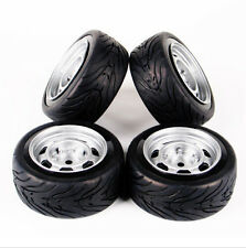 4PCS Rubber Tires & Wheel For HSP HPI RC 1/10 Scale On-Road Racing Car 11083