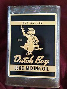 034-DUTCH-BOY-034-LEAD-MIXING-OIL-1-GALLON-CAN-Sticker-Decal-8-034-X-6-034-20CM-X-15CM