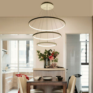 Image Is Loading Modern Circle Rings LED Chandelier Living Room