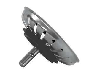 Tappo universale in acciaio inox 18/8 per lavello da cucina ø 85 mm h 50 mm per