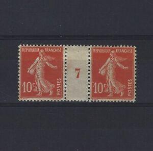 France-Yvert-n-138-Paire-millesime-7-neuf-avec-charniere