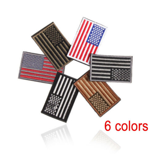 Patriotic Embroidered American Flag Embroidered Patch USA Military Sewing Patch