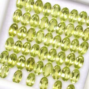 Wholesale-Lot-of-5x3mm-Oval-Facet-Cut-Natural-Peridot-Loose-Calibrated-Gemstone