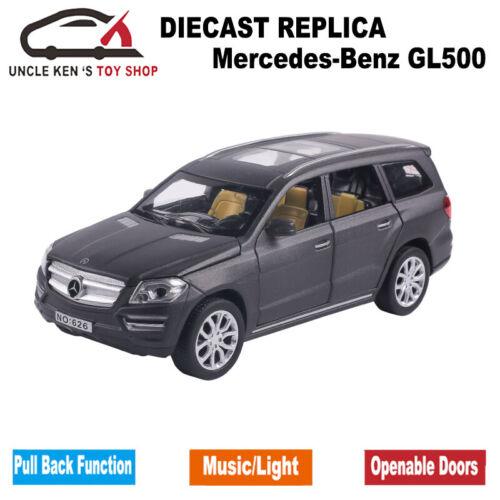 1:32 Length Diecast GL500 Scale Model Car 6 Open Doors Pull Back Toys Boys Gift