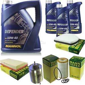 Motor-aceite-8l-MANNOL-defender-10w-40-Mann-Filter-Mercedes-Benz-CLK-c208-320