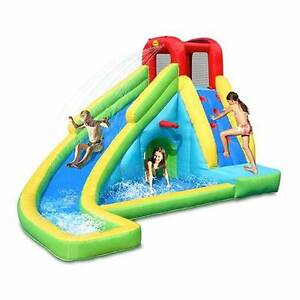 Happy hop 9027 water riders fun zone water slide ebay for Happy hop inflatable water slide