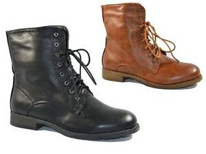 WOMENS-LADIES-ANKLE-BOOTS-MILITARY-ARMY-LACE-UP-WINTER-COMBAT-BOOTS-SIZE-3-8