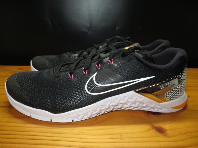 15839cffe98051 Nike Metcon 4 Mens Training Shoe Black White Laser Orange Size 12 (AH7453  008)