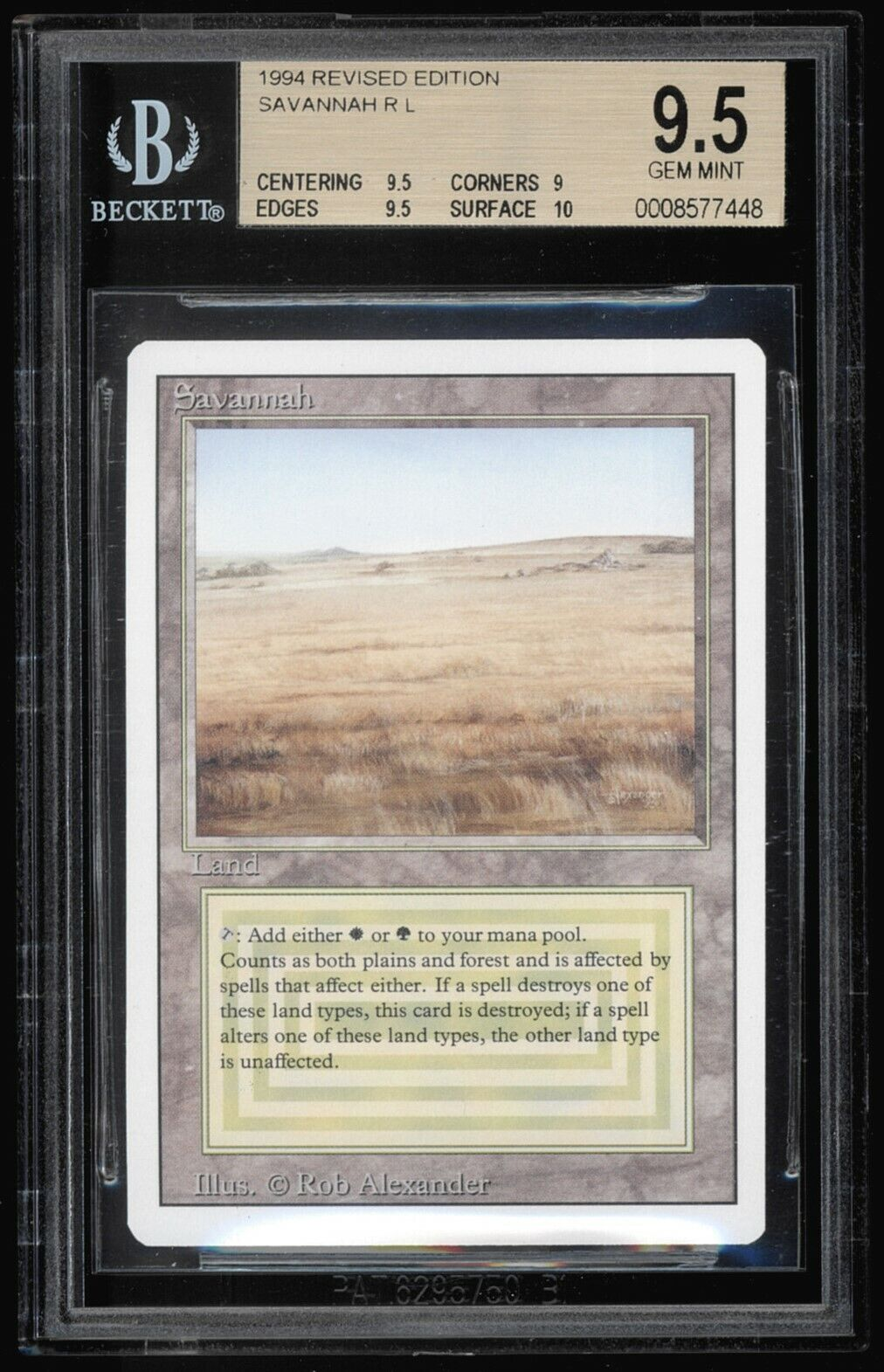 Savannah - Revised - BGS 9.5 - MTG Magic