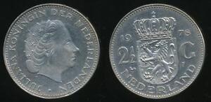 Netherlands-Kingdom-Juliana-1978-2-1-2-Gulden-Extra-Fine