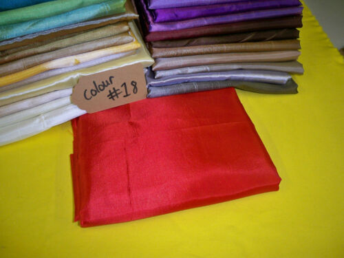 red Poly Satin fabric costume curtain lining wedding decoration crepe fabric