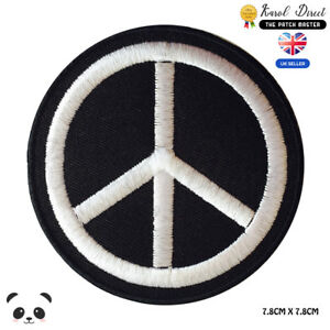 Peace-Symbol-Embroidered-Iron-On-Sew-On-Patch-Badge-For-Clothes-Bags-etc