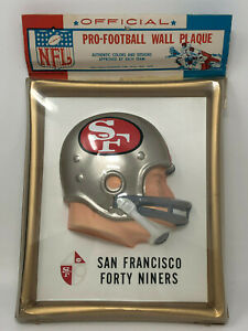 Pro-Football-Wall-Plaque-San-Francisco-Forty-Niners-Plastic-Vintage-1960-039-s