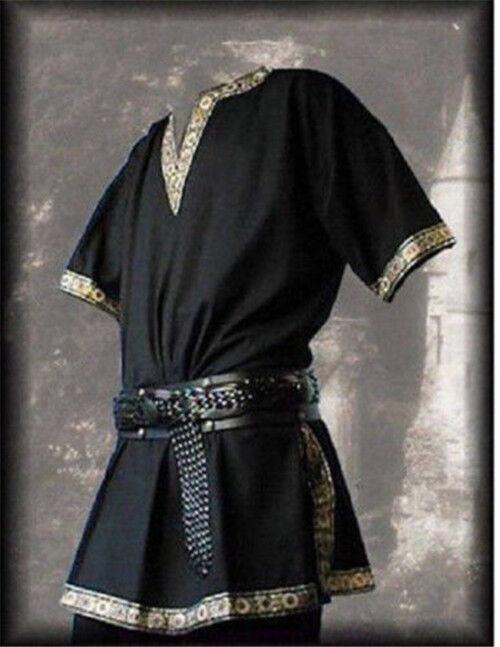 Medieval Tunic Braided Renaissance Viking Norseman,Saxon Men,Cosplay Top Costume