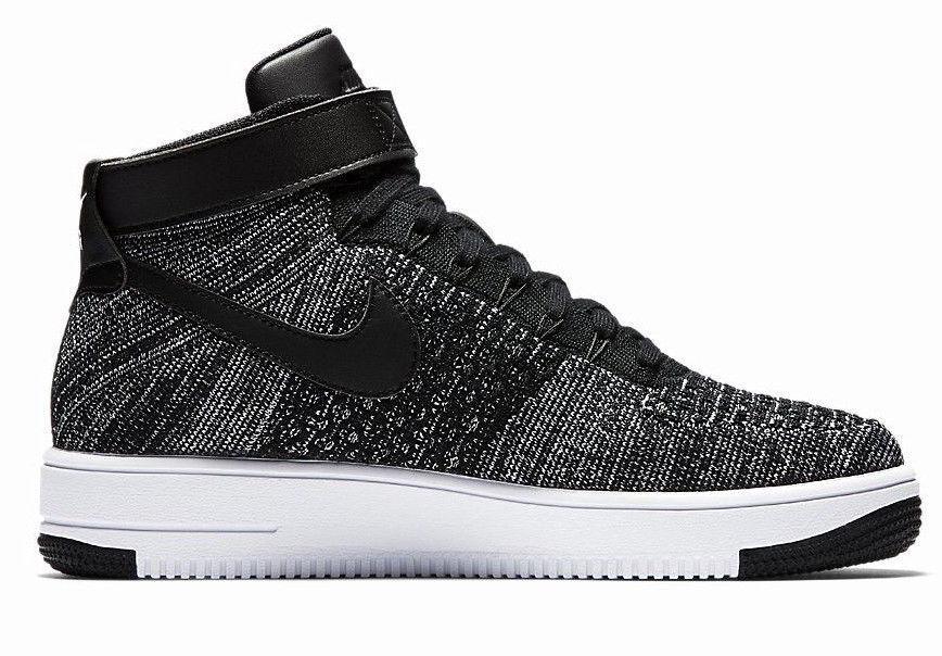 Nike Men's Air Force 1 AF1 Ultra Flyknit Oreo Black White sz 9 [817420 004]