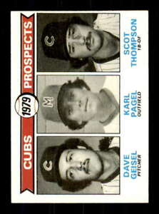 1979 Topps #716 Dave Geisel/Karl Pagel/Scot Thompson NM/NM+ RC Rookie Cubs Cubs